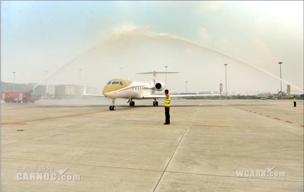 四川縱橫航空第二架灣流G550落戶成都機場