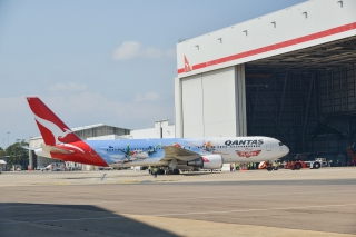 Qantas Airways has painted a 767-300 in a special to celebrate the movie Planes. Photo courtesy of Qantas Airways.