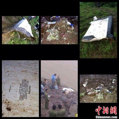 老挝客机坠河致49人死亡 机尾受损现场吓人