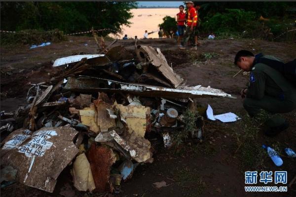 组图:直击老挝客机失事现场