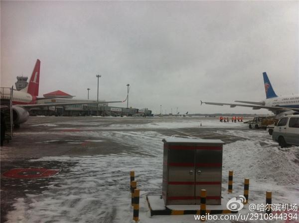 东北局部地区暴雪 多个机场因跑道积雪关闭