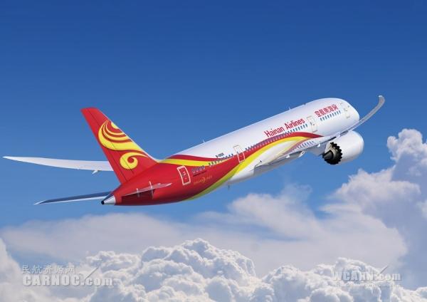 """海南航空兰州=北京航线启用787""""梦想客机""""执飞"""