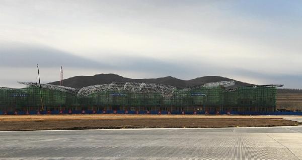 乌兰浩特机场新建航站楼工程建设紧锣密鼓推进