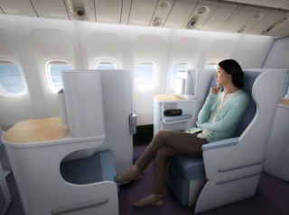 Business class of China Southern 777-300ER