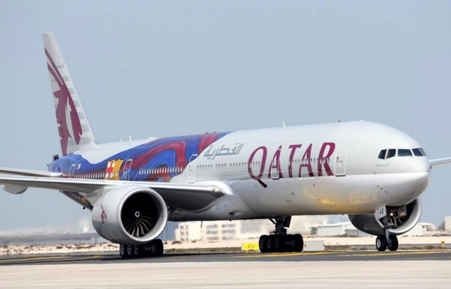 Photos Qatar Airways Boeing 777 300er Fc Barcelona Livery
