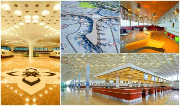 組圖:印度孟買機場二號航站樓彰顯豪華風范