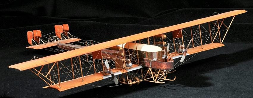 据英国《每日邮报》4月24日报道,在过去50年间,英国一位未透露姓名的隐居老人按照严格的比例,手工打造了350架飞机模型,其中最古老的可追溯至1914年第一次世界大战之前的飞机。整个系列模型都造型奇特、风格迥然。目前,该男子欲通过格洛斯特郡的拍卖行Dominic Winter将其售出,观众也因此可以一饱眼福。