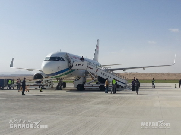 东航A319机型圆满完成德令哈机场首航