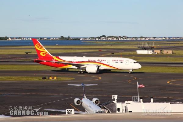 分析:未來海航將飛北美10城市 787飛機助力