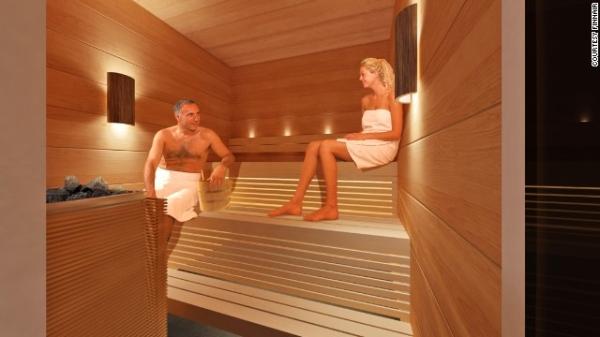 幻想着在登机前脱下衣服和其他乘客一起出点汗吗?   芬兰航空(Finnair)认为你也许会喜欢并支持这个主意,据CNN报道,芬兰航空将在芬兰赫尔辛基机场的新贵宾休息室里增加一个男女混浴的桑拿房。   航空公司休息室是航空公司推广品牌的首要途径,不过,一个男女混浴的桑拿房,芬兰航空可谓加大了赌注。   这家航空公司的新休息室将在今年晚些时候开放,主题为北欧风情。   新贵宾休息室面向持有芬兰航空白金卡和黄金卡的乘客开放,407平方米的空间以各种芬兰设计的家居装饰,还有反映时间和四季的视频投影。   在这