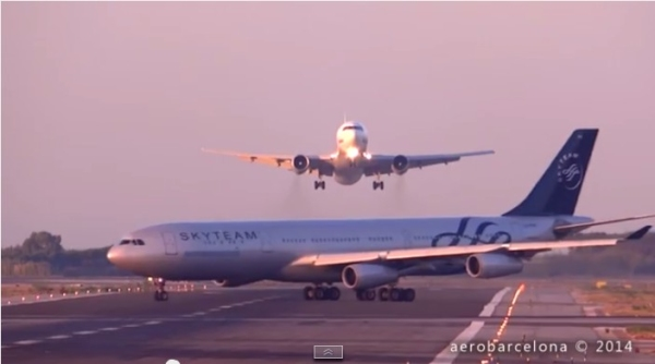 西班牙巴塞罗那机场跑道冲突事件引发热议