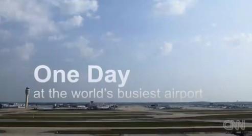 CNN短视频:1分钟解析世界上最繁忙机场一天