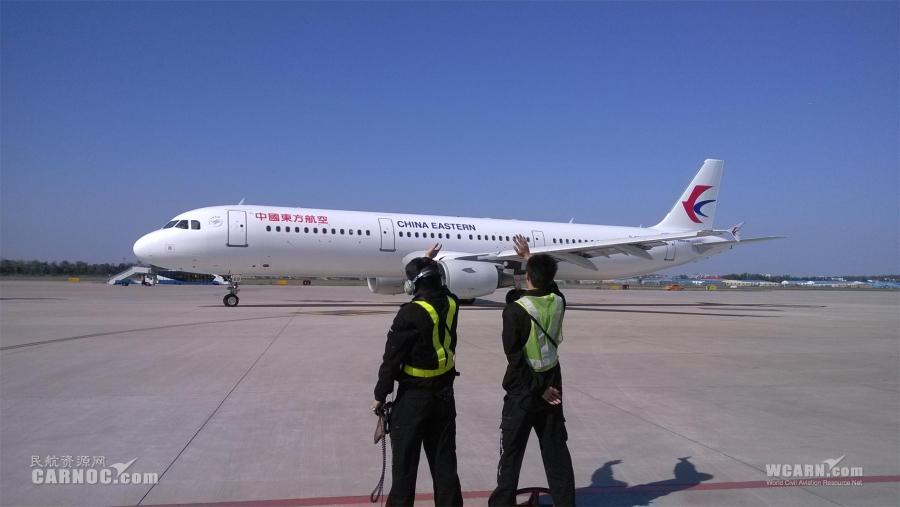 全新飞机涂装的b-6369号a321飞机执飞mu2701航班