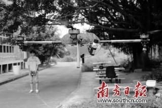 回字形飞行器自动洒农药 珠海试点植保无人机