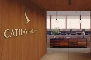 Cathay Pacific lounge reception