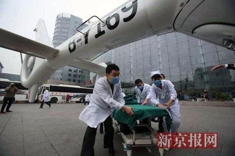 我国医疗救援直升机首飞 3小时从东营转至北京