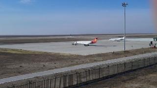 二連浩特機場同時保障公務機與訓練飛行