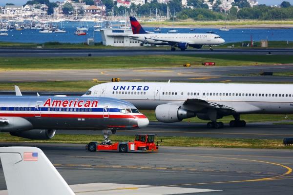 繁忙的一天!记录美国波士顿机场瞬间
