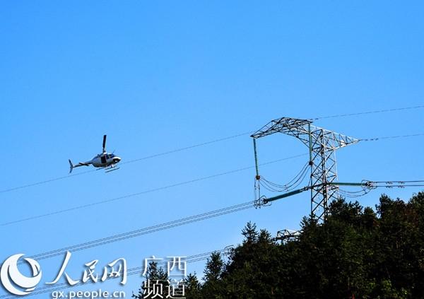 在所管辖的220千伏及以上输电线路上广泛应用直升机