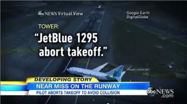 肯尼迪機場跑道入侵 捷藍客機中斷起飛避相撞