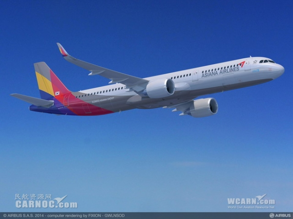 韩亚航空订购25架A321neo飞机