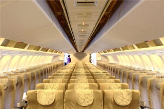 Shanghai Airlines' new 767-300 cabin