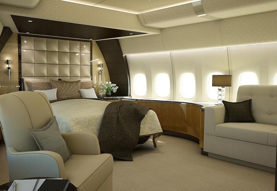波音787私人飞机内饰