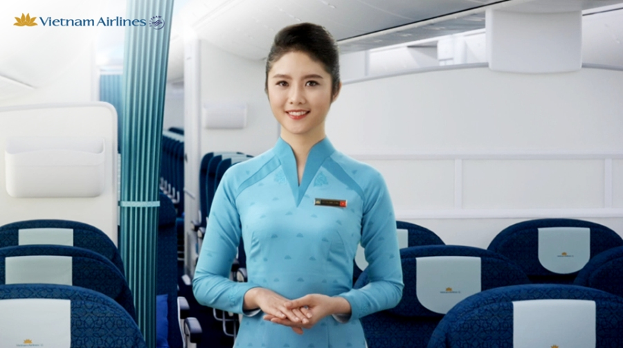A chinese airline stewardess loves 3p 10