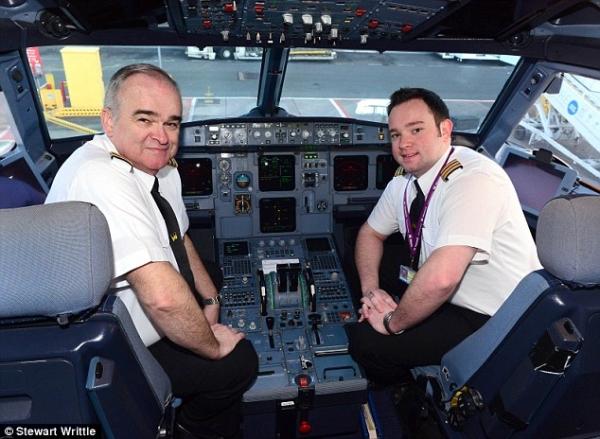 图集:上阵父子兵 父子档飞行员一起飞商用航班