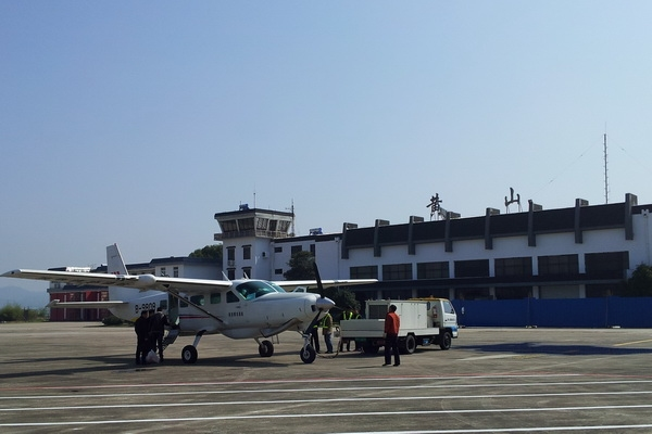 黃山機場完成精功通航攝影飛行任務保障