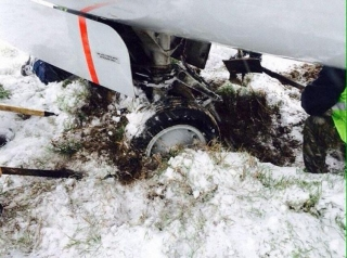 吉尔吉斯斯坦客机雪天降落偏离跑道