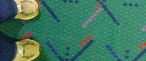 美波特兰机场青色条纹地毯走红网络