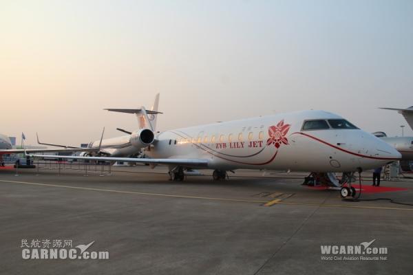 中一太客携庞巴迪挑战者850亮相上海公务机展
