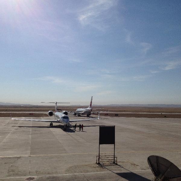 錫林浩特機場順利保障國航與公務機訓練飛行