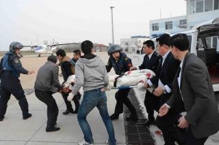 长海机场完成北海飞行救援队急救飞行保障任务