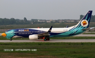 "NOKAIRHS-DBP号BOEING 737-800型客机。民航图库图片,摄影:民航资源网网友""空中之客""。浏览作者图库原帖《[原创][空中之客]星期天去新桥-几只新东西-解决有无》。"