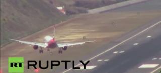 世界最危險降落之——馬德拉機場遇強風