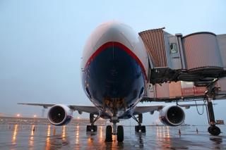 長水機場迎俄羅斯奧倫堡航空首航包機