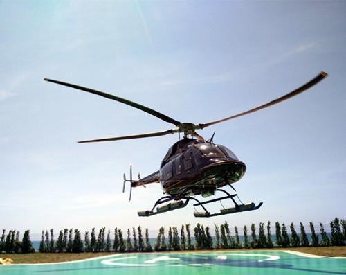 博鳌—海口直升机航线通航 乘客可俯瞰玉带滩