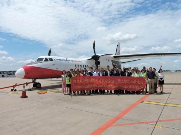 中国首家海外投资航空公司在柬首开国际航线