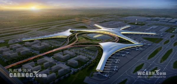 图:青岛新机场规划设计图