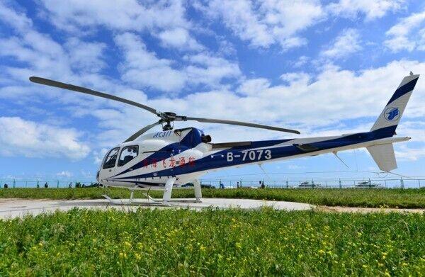 青海飞龙通航一架直升机在德令哈机场坠落