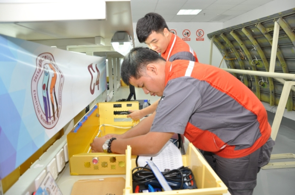 民航深圳地区电气线路施工技能竞赛在深航维修培训