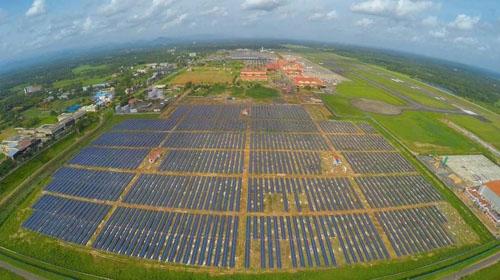 印度建成全球首个全太阳能供电机场