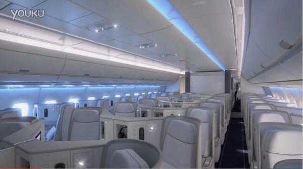 芬蘭航空首架A350XWB機艙內景曝光