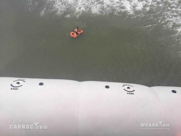 两名游客游泳遇险 亚龙通航出动直升机救援