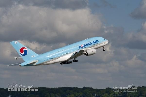 大韩航空明年改用A380飞伦敦 座位数同业中最少