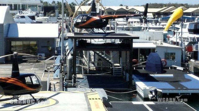 的mirage直升机平台,有五个机位.-在澳大利亚体验异国的通航大众