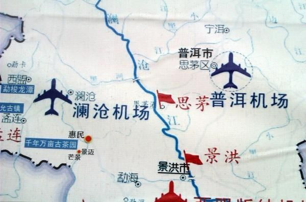 图:澜沧机场地图信息.图片来自网络