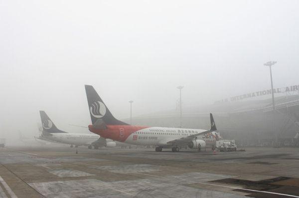 """雾霾天,山航飞机凭什么能""""提前""""起飞?"""